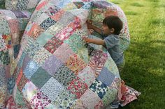 Patchwork - I think it is still my most favorite! It was the first quilt I ever made......and I just love it.
