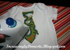 Applique Tie Onesie Tutorial