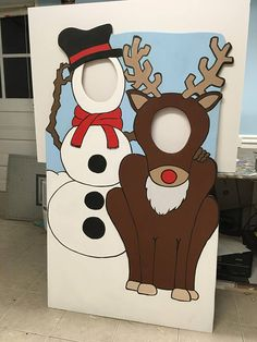 Santa Photo Booth Prop Christmas Party Decor Face in Hole