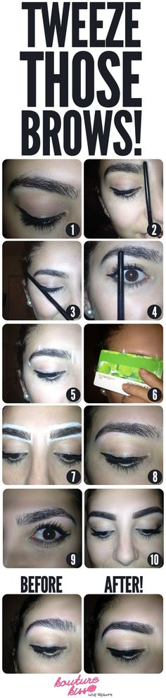 Tutorial: Tweeze Those Eyebrows! - Handy but you need to read the step by steps for it to make sense.