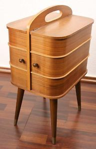 Danish sewing box; elegant furniture which is also useful!