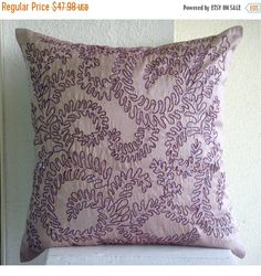 15% HOLIDAY SALE Purple Ivy  Euro Sham Covers  by TheHomeCentric