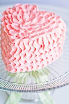 Pretty pretty pretty ruffle heart cake.