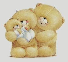 Forever Friends kaart - a-happy-bear-family Friend Cartoon, Bear Cartoon, Cute Images, Cute Pictures, Teddy Pictures, Action Wallpaper, Friends Clipart, Bear Clipart, Bear Images