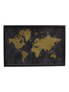 efe9657838a 24x16 World In Glitter Art Print - Home - T.J.Maxx