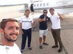 """ Thanks to great champion @RafaelNadal for giving us lift to London!  via @troicki_viktor"
