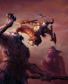 Dwarven Monk unleashes the fabled Iron Butterfly kick – fantasy concept by Matt FORSYTH