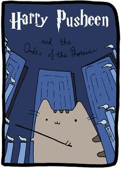 Harry Pusheen and the order of the Phoenix. This is a tribute I made, all credits go to Mary GrandPré, Claire Belton, Andrew Duff and J.K Rowling. Pusheen Harry Potter, Harry Potter Memes, Funny Cats, Funny Animals, Cute Animals, Pusheen Love, Pusheen Gif, Pusheen Stuff, Hogwarts