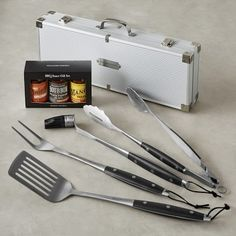 BBQ Set in Stainless-Steel Box with BBQ Sauce