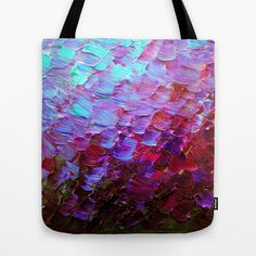 """Mermaid Scales"" by Ebi Emporium on #Society6, Fine Art Shoulder Tote Bag Fashion Style Abstract Acrylic Painting Modern Decorative Eggplant Dark Purple Violet Turquoise Ombre, #fineart #ombre #art #totebag #tote #shoulderbag #fashion #stylish #purple #purple #mermaid #colorful #abstractpainting #EbiEmporium #JuliaDiSano #decor #homedecor"