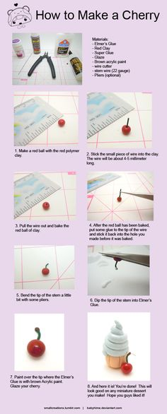 How to make a Cherry - Fun Tip Friday #6 by *SmallCreationsByMel on deviantART