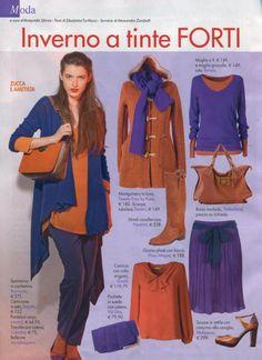Intimità, dicembre  Arancione e viola, come vi pare questo abbinamento?   Intanto, guardate anche la borsa Lynn :)