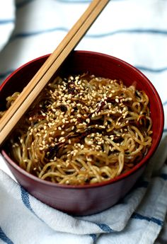 Easy Noodle Stir Fry. Another riff on Sesame Noodles!