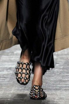 Alexander Wang's Punkish Leather Slides - The New York Times [without points!]