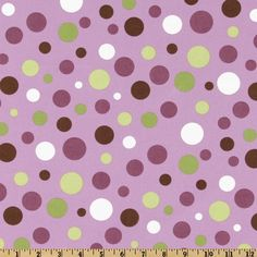 Michael+Miller+Lolli+Dot+Lavender from @fabricdotcom  Designed+for+Michael+Miller+Fabrics,+this+fabric+has+an+allover+design+of+multi-sized+polka+dots.+The+color+palette+includes+eggplant,+lime,+leaf+green+,+brown+and+white+on+a+lavender+background.++It+is+perfect+for+quilt+or+craft+projects,+apparel,+and+home+décor+accents.