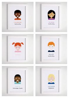 Free custom portraits of your children, ready for download | The Little Umbrella