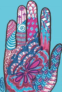 Zentangle hand