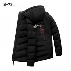 d0babbdef265 Winter Jacket Men Coats Slim Fit Stand Collar Cotton-Padded Brand Fashion Parkas  Coats Jackets Outerwear