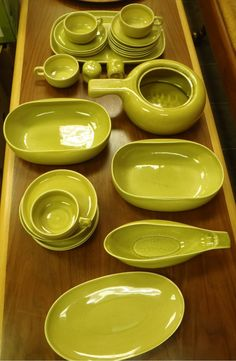 """My parents had these Russell Wright dishes in the exact same color. We only used them on special occasions because they were the """"good"""" dishes. I really wish I still had them."""