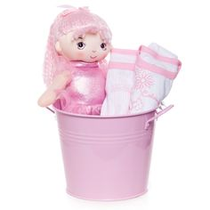 Pink Doll in Tin with Calvin Klein outfit.