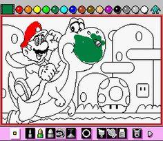 Mario Paint - Super Nintendo!!! I freakin loved that thing! lol...  #wayback /// www.art-by-ken.com