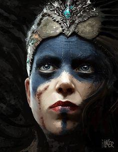 "Senua ""Hellblade"", ilker Yüksel on ArtStation at https://www.artstation.com/artwork/LEg9K"