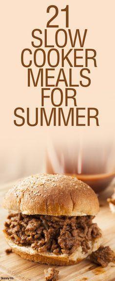 21 #slowcooker #crockpot meals for summer