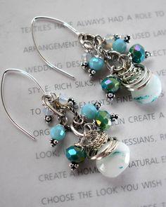 earrings blue opal earrings French hook earrings bohemian
