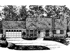 Country House Plan with 1091 Square Feet and 3 Bedrooms from Dream Home Source | House Plan Code DHSW54962