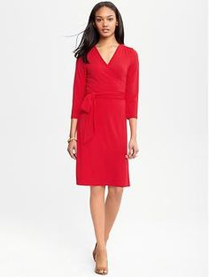A gorgeous wrap dress from Banana Republic