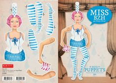 Fanny Cheval - Puppets  http://www.blueart.fr/francais/carte-a-decouper-mes-puppetts-miss-bzh-par-fanny-cheval-14-8-x-21-cm.html