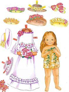 Beautiful HAWAIIAN FLOWERS Paper Dolls by Yuko Green - cleanhouse2000@hotmail center - Picasa Web Album