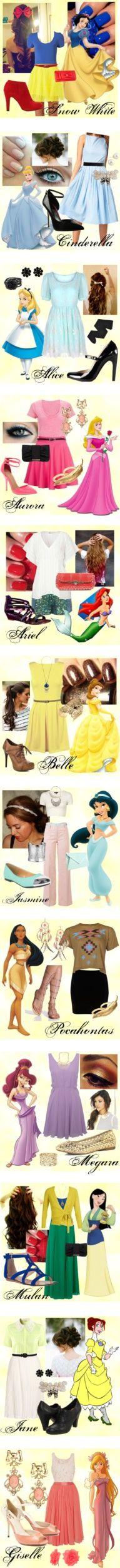 I love some of these! Disney Outfits TOO CUTE