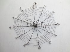 I have always loved the book Charlottes Web. I created this web in honor of that wise, eight-legged heroine.  I will make you a web very similar to