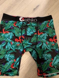 7979d6030d4 Ethika Mens The Staple Asian Garden Boxer Brief Underwear Skate FREE SHIP  Sz L #fashion