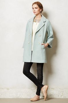 Lovely coat, I just wish it had longer sleeves. Clovelly Trapeze Coat #anthropologie