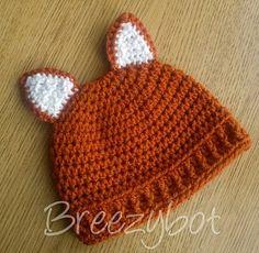 Baby Fox Hat free crochet pattern - 10 Free Crochet Fox Patterns
