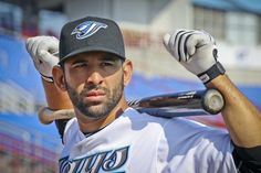 Blue Jays Bullpen: Jose Bautista deserves some top 10 AL MVP votes Sport Photography, Photography Photos, Baseball Players, Baseball Cards, Mlb Teams, Sports Teams, The Great White, Sports Figures, Toronto Blue Jays