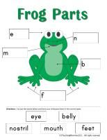 Frog theme printables, as well as frog parts (image pinned here) there lots of other preschool and older activities.
