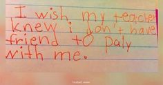 The HEARTBREAKING Note This Teacher Shared From Her Kids Is...