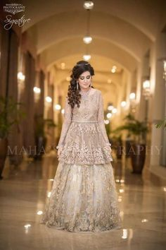 day is the most important day of any girls life and they have to look at their best, to look best at your wear Mizz Noor Chose your style and design and let mizz noor prepare the dress for you using finest and intricate Pakistani Engagement Dresses, Pakistani Wedding Outfits, Pakistani Wedding Dresses, Pakistani Dress Design, Bridal Outfits, Indian Dresses, Pakistan Bride, Walima Dress, Asian Wedding Dress