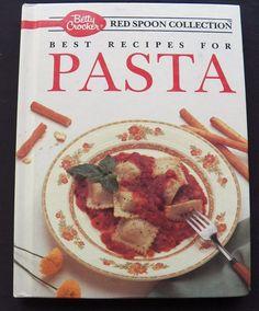 $3.00 - Betty Crocker Red Spoon Collection Pasta 1990 HC (101616-1340) vintage cookbooks