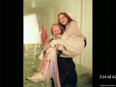 Love this pic of Titanic director James Cameron carrying Kate Winslet