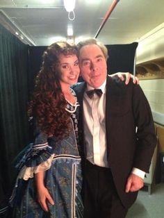 Sierra Boggess and Andrew Lloyd Webber