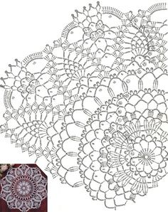 Crochet Doilies, Crochet Lace, Crochet Pillow Pattern, Shabby Chic, Pillows, Knitting, Inspiration, Crochet Tutorials, Arts And Crafts