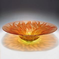 Fire flower bowl by Laurie Thal