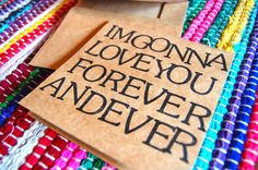 I'm Gonna Love You Forever and Ever  Greeting Card by PortlandAve