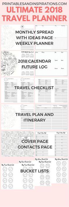 Travel Journal and Planner Printable Pinterest Free travel