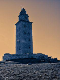 Hercules' tower, La Coruna, Spain