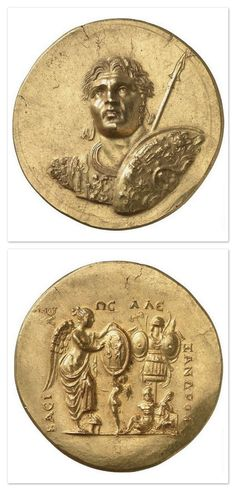 Medallion with the effigy of Alexander the Great - 3rd century. Roman empire (27 B.C-476 A.D). Gold. | Allemagne, Berlin, Münzkabinett (SMPK) - Photo (C) BPK, Berlin, Dist. RMN-Grand Palais / image BPK.